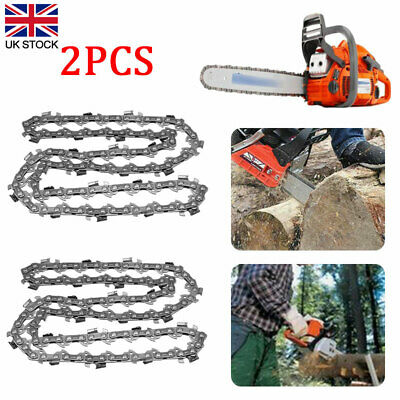2Pcs 14in 52 Section Chainsaw Blade Links Saw Chain Parts Cutting Tool Black New • 11.75£