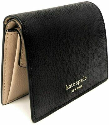 $ CDN63.13 • Buy Kate Spade New York Women's Small Bifold Pebble Leather Wallet - Black