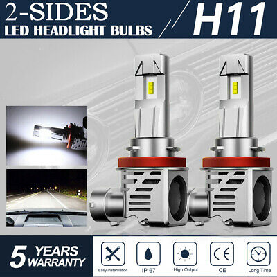 AU28.49 • Buy 2pcs H11 H8 H9 LED Headlight Kit Globe Bulbs High Or Low Beam 120W Super White
