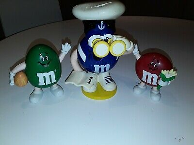 M&M Sweet Dispensers X3, Sailor - Large X 1, Footballer X1,with Flowers X1, Vgc • 12.99£