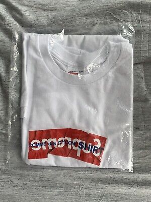 $ CDN550 • Buy Supreme X CDG Box Logo Tee SS17 Size Large L Comme Des Garcons White T Shirt