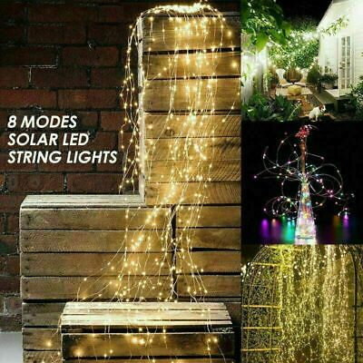 200 LED Solar String Lights Waterproof Copper Wire Fairy Party Garden Outdoor • 6.99£