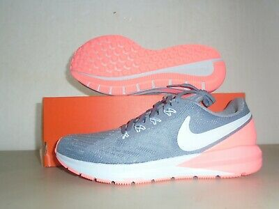 $ CDN63.29 • Buy New Womens Nike Air Zoom Structure 22 Grey Pink Lava Running Shoes Sz 8.5