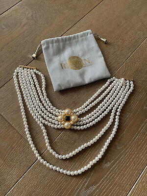 Pearl Choker, Faux Pearl Necklace, White Pearls • 25£