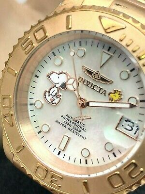 $ CDN87.72 • Buy Invicta Men's Watch 24789 Automatic Snoopy MOP Rose Gold Tone Limited Edition
