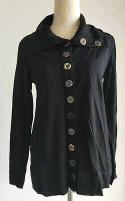 AU39 • Buy Designer FOIL Women's Top Size Small Merino Wool Excellent Black NZ Brand