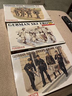 German Dragon Models - 6087, 6039, 6105 - 1:35 Naval, Ski, Infantry Troops-3kits • 24£