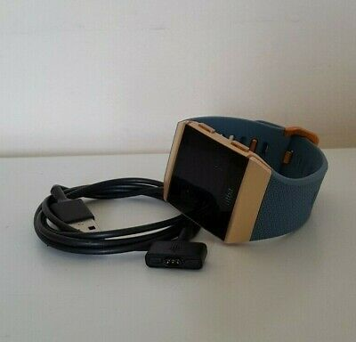 AU124.50 • Buy Fitbit Ionic Smart Watch Fitness Activity Tracker Slate Blue Burnt Orange Small