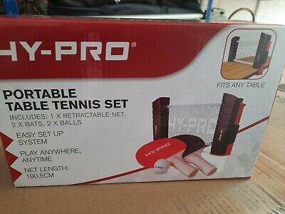 Hypro Portable Table Tennis Set • 0.99£