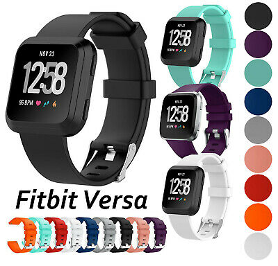 $ CDN8.61 • Buy For Fitbit Versa Smart Watch Replacement Strap Band Wristband Metal 1 2 & Lite