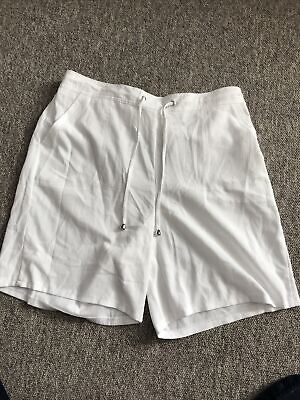 PAPAYA Ladies White Shorts Size 16 Elasticated Waist • 2.50£