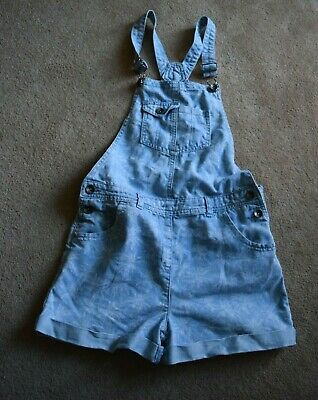 Girls Dungaree Shorts Age 12 Years Blue 79% Cotton/21% Polyester • 4.80£