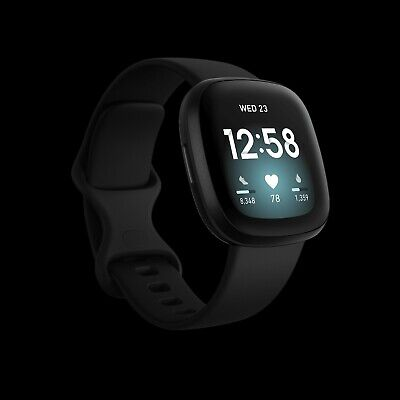 $ CDN159.86 • Buy Fitbit Versa 3 Health And Fitness Smartwatch With GPS - Black + Extra Bands