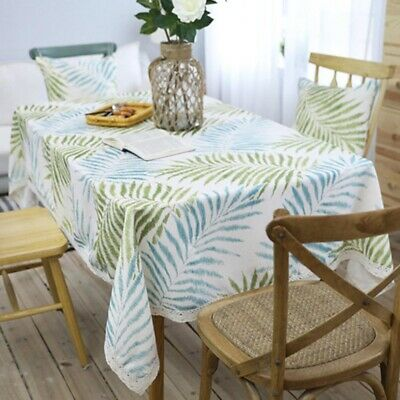 AU15.46 • Buy Printed Tablecloth Rectangle Desk Table Cloth Cover For Kitchen Dining Decor
