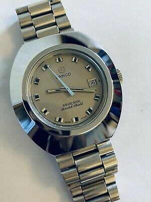 Vintage Gents Lanco Airvac 6000 Scratch Shield Automatic Tungsten 39mm • 83£