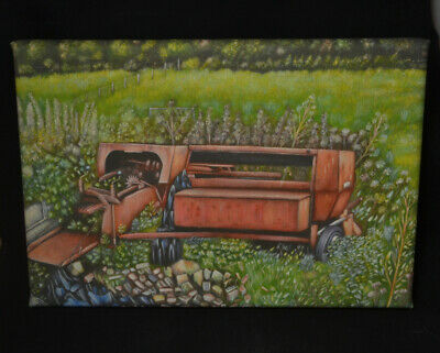 The Old Bailer - Canvas Print Of Landscape Painting 30x20cm Signed • 20£