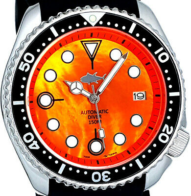 $ CDN114.73 • Buy Vintage SEIKO Diver Orange MOP Dial MERCEDES Hands MOD Genuine 7002 Case & Movt.