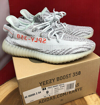$ CDN469.95 • Buy Adidas Yeezy Boost 350 V2 Blue Tint Zebra 100% Authentic B37571 Sz 9