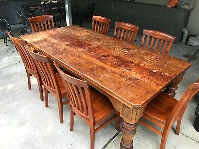AU450 • Buy Solid Timber Dining Table And Chairs