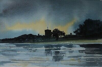 Michael Haswell - Castle By The Lake - Modern British Artist  • 2£