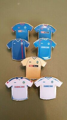 £24 • Buy Linfield 2002-2007 Home, Away And Third Kit Pin Badges