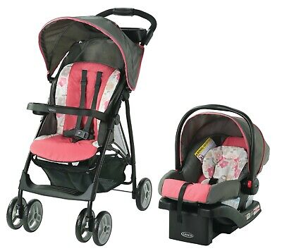 Baby Infant Toddler Stroller With Car Seat Travel System Portable Storage New  • 111.43£