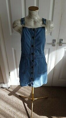 Girls Denim Dungaree Dress Age 12-13 From M&s • 3.20£