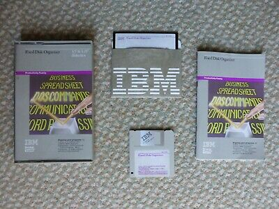 IBM FIXED DISK ORGANIZER MANUAL - 1983 Vintage With 3.5  And 5.25  Discs • 0.99£
