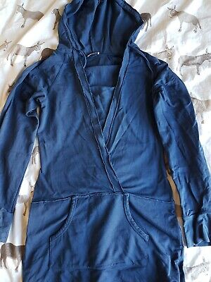 $ CDN6.14 • Buy Topshop Hooded Blue Casual Dress Size 10. V Neck, Hoodie Dress