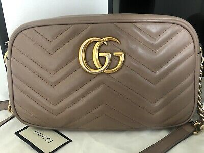 AU1299 • Buy Gucci Marmont Small Camera Bag- Dusty Pink