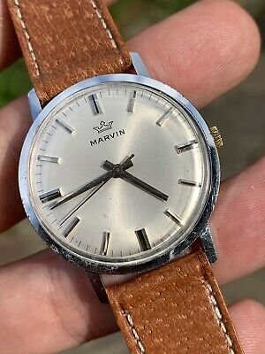 £199 • Buy 1960s Marvin Vintage Mens Watch 34mm Hand-w Swiss Made