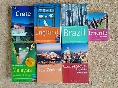 Job Lot Of Rough Guide And Lonely Planet Travel Guides 7 Books Crete Brazil Etc • 25£