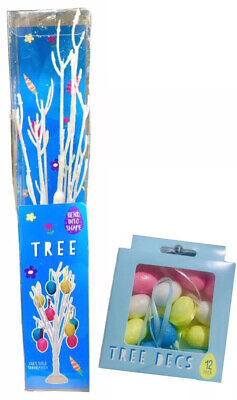 Easter Tree Table Top Twig Decoration Egg Hanging 30cm Easter Tree With 12 Eggs • 7.99£