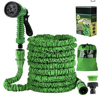 100 Ft Expandable Garden Hose Pipe -Expanding Water Magic Hose Lightweight • 19.99£