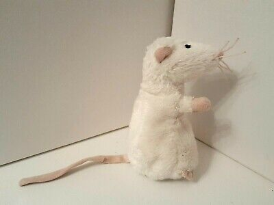 IKEA Small White Rat Plush Soft Toy Comforter Mouse Soother NO LABEL Stuffed Toy • 9£