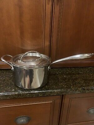 $ CDN29.81 • Buy Williams Sonoma Thermo-Clad Stainless Steel Sauce Pan With Lid 4-Qt HESTAN Italy