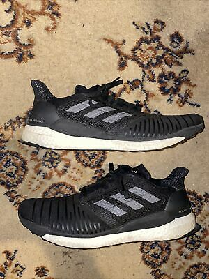 AU18.46 • Buy Adidas Solar Boost Mens Shoes Size 14 Black White Sneakers
