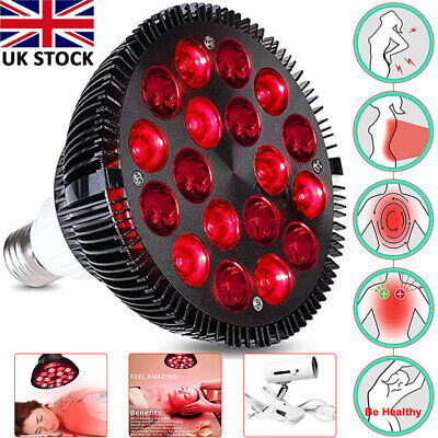 Red LED Light Therapy Lamp Skin Relief Pain Infrared Combo Infrared Light Device • 28.99£