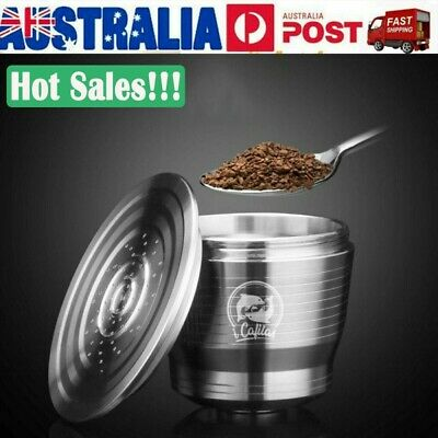 AU5.99 • Buy Reusable Refillable Coffee Capsules Pod Cup For Nespresso Stainless Steel Filter