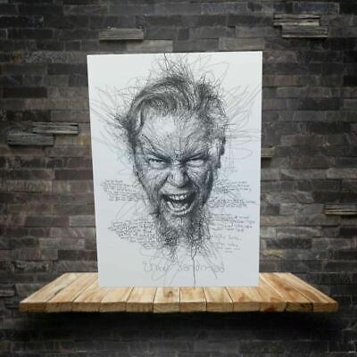 Metallica Sketch Drawing  Canvas Print 18 X30  Framed • 29.99£