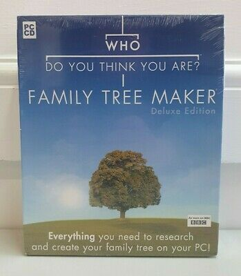 Who Do You Think You Are Family Tree Maker Deluxe 2005 *new & Sealed* KP229 • 5£