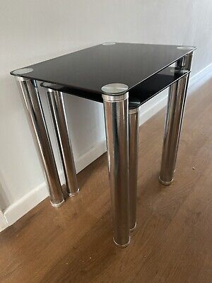 Black Glass Nest Of Tables • 10£