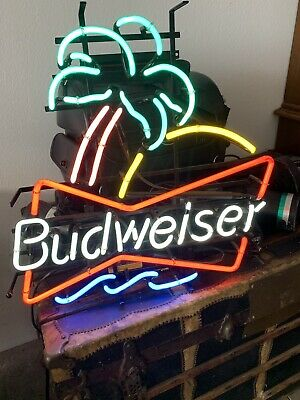 $ CDN107.32 • Buy Neon Sign-brand New In Box-budweiser Palm Tree