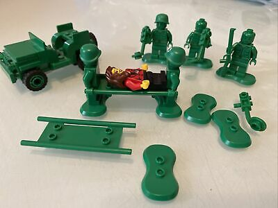 Lego - Toy Story - Green Army Man Medic Soldier Jeep Stretcher And Patient. • 22£