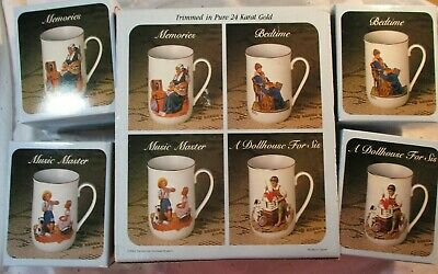 $ CDN23.14 • Buy Vintage 1983 Norman Rockwell Collector's Mug Set Of 4 Mugs ~ MINT In Boxes, NEW!