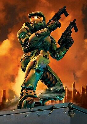 £3.99 • Buy Halo, Master Chief Art Print / Poster, A4 / A3 Size
