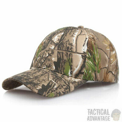£7.99 • Buy Real Tree Camouflage Baseball Cap Hunting Hat Army Airsoft Oak Leaf Head Cover