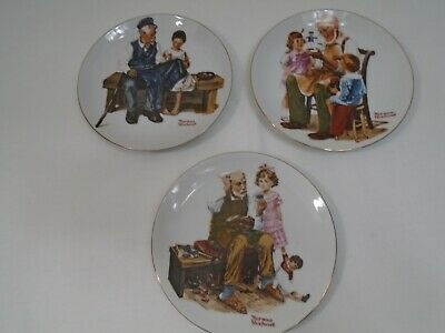 $ CDN2.52 • Buy Vintage 1982 Lot Of 3 Norman Rockwell Museum Knowles 6-1/2  Collector Plates  B2