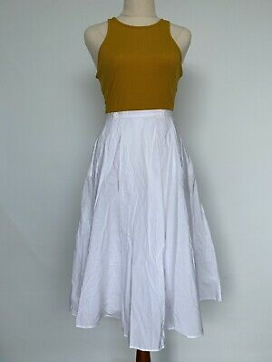 AU10 • Buy Forever New 8 White Heightwaisted Midi Skirt With Pockets