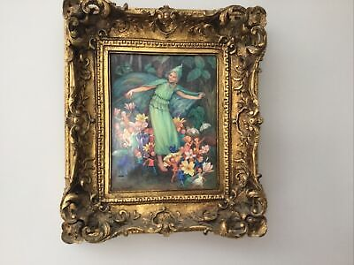 Rare Collectable Margaret Tarrant Fairy Tile Plaque Picture 'Vienna' • 140£